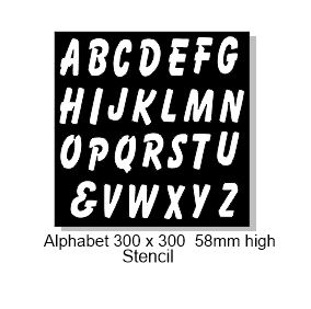 Alphabet 300 x 300 58mm high.